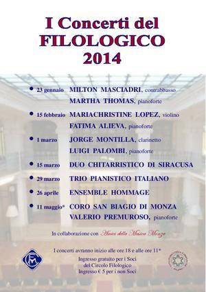 I Concerti del Filologico 2014